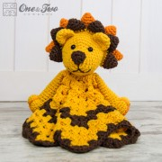 Logan the Lion Security Blanket Crochet Pattern