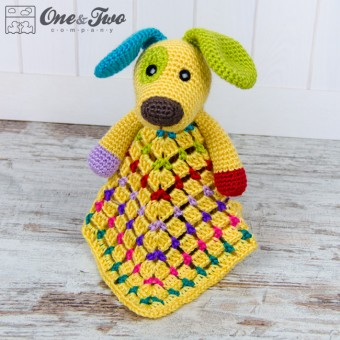 Scrappy the Happy Puppy Security Blanket Crochet Pattern