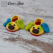 Scrappy the Happy Puppy Slippers - Toddler Sizes - Crochet Pattern