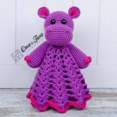 Pip the Hippo Security Blanket Crochet Pattern