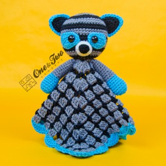 Rascal the Raccoon Security Blanket Crochet Pattern