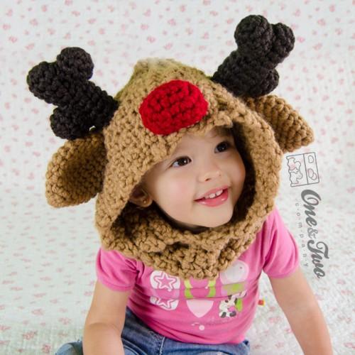 Reindeer And Moose Hood Crochet Pattern