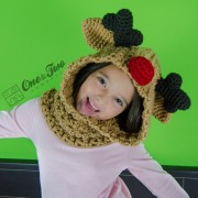 Reindeer and Moose Hood Crochet Pattern
