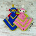 Robby the Robot Security Blanket Crochet Pattern
