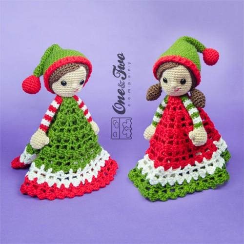 Jingle And Belle Santas Helper Security Blanket Crochet Pattern
