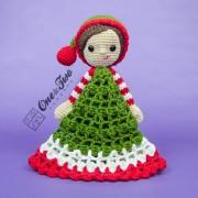 Jingle and Belle Santa's Helper Security Blanket Crochet Pattern