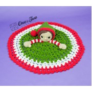 Jingle and Belle Santa's Helper Security Blanket Crochet Pattern