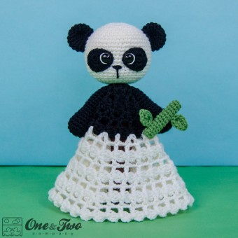 Zhen the Panda Security Blanket Crochet Pattern