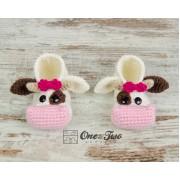 Doris the Cow Booties - Toddler Sizes - Crochet Pattern