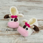 Doris the Cow Booties - Toddler Sizes - Crochet Pattern