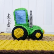 Gus the Tractor Security Blanket Crochet Pattern
