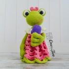 Kelly the Frog Security Blanket Crochet Pattern