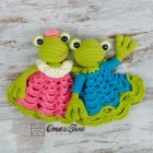 Kelly the Frog Security Blanket Crochet Pattern