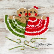 Nut and Meg Gingerbread Security Blanket Crochet Pattern