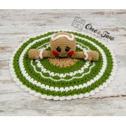 Nut and Meg Gingerbread Lovey and Amigurumi Crochet Patterns Pack