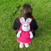 Olivia the Bunny Backpack Crochet Pattern