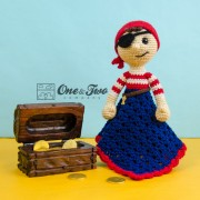 Pete and Penny the Pirates Security Blanket Crochet Pattern