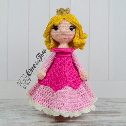 Crochet Pattern Princess Dress Blanket : Princess Rose Security Blanket Crochet Pattern