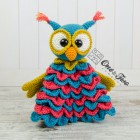 Quinn the Owl Security Blanket Crochet Pattern
