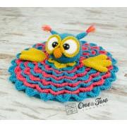 Quinn the Owl Security Blanket Crochet Pattern