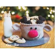 Reindeer Basket Crochet Pattern