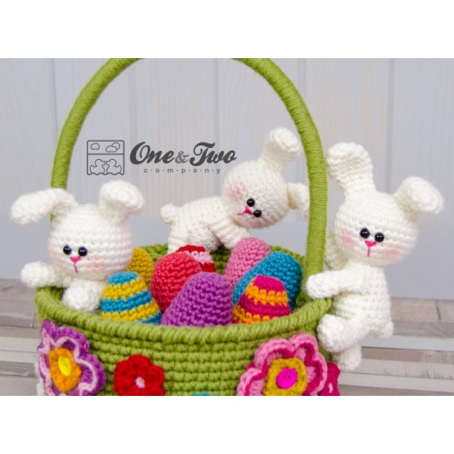 Little Bunnies Easter Basket Crochet Pattern