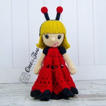 June the Ladybug Girl Security Blanket Crochet Pattern