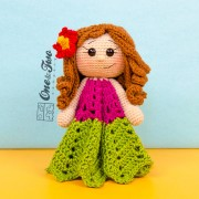 Mya the Hawaiian Girl Lovey and Amigurumi Crochet Patterns Pack
