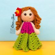 Mya the Hawaiian Girl Security Blanket Crochet Pattern