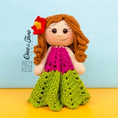 Mya the Hawaiian Girl Security Blanket Crochet Pattern