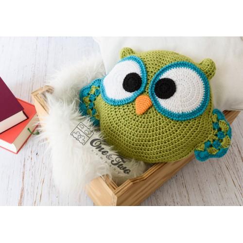 crochet owl pillow - YouTube | 500x500