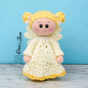 Annie the Angel Security Blanket Crochet Pattern