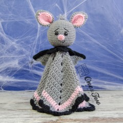 Brook the Tiny Bat Security Blanket Crochet Pattern