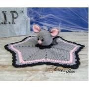 Brook the Tiny Bat Security Blanket Crochet Pattern