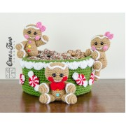Gingerbread Christmas Basket Crochet Pattern