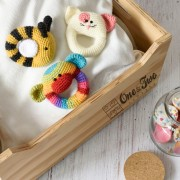 Rainbow Sock Monkey Rattle Crochet Pattern