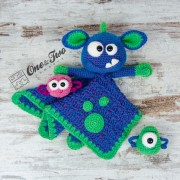 Mel the Monster and Friends Lovey and Amigurumi Crochet Patterns Pack