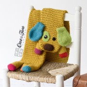 Scrappy the Happy Puppy Scarf Crochet Pattern