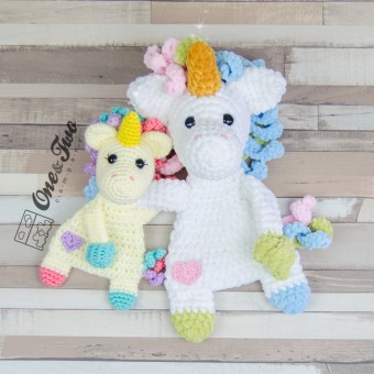 Sparkle the Unicorn Cuddler Crochet Pattern