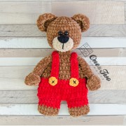 Ben & Bianca the Teddy Bear Cuddler Crochet Pattern