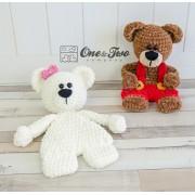 Ben & Bianca the Teddy Bear Cuddler Crochet Pattern