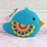 Bliss the Bird Pillow Crochet Pattern
