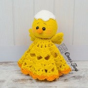 Coco the Little Chicken Security Blanket Crochet Pattern
