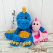Dan the Dino Cuddler Crochet Pattern