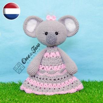 Kira the Koala Security Blanket Crochet Pattern - Dutch Version