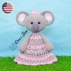 Kira the Koala Security Blanket Crochet Pattern - English Version