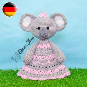 Kira the Koala Security Blanket Crochet Pattern - German Version