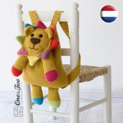 Logan the Lion Backpack Crochet Pattern - Dutch Version