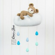 Sweet Dreams Teddy Bear Mobile Boy Version - Finished Item