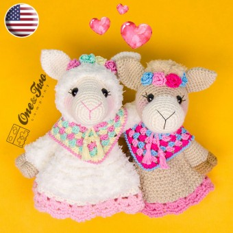Astrid the Alpaca Security Blanket Crochet Pattern - English Version